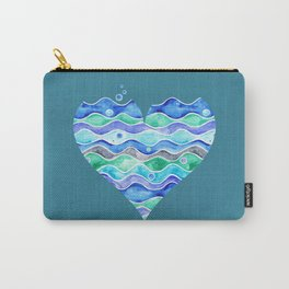 A Sea of Love (blue) Carry-All Pouch
