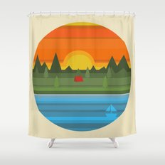 Camping Shower Curtain