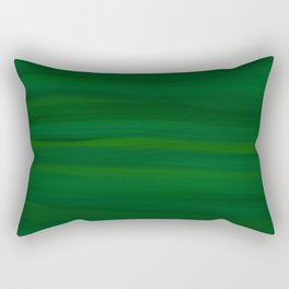 Emerald Green Stripes Abstract Rectangular Pillow