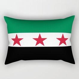 Syrian Independence Flag  High quality Rectangular Pillow