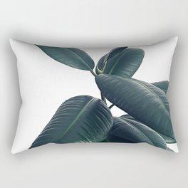 Ficus Elastica #16 #White #decor #art #society6 Rectangular Pillow