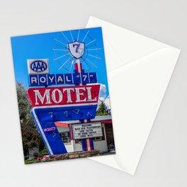 The Royal 7 Motel, Vintage Motel Signs, Bozeman, Montana Stationery Cards