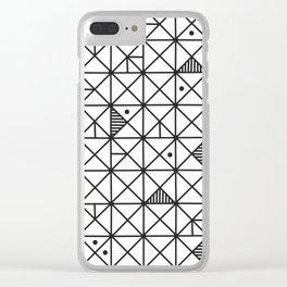 Monochrome Geometric 02 Clear iPhone Case