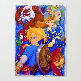 Breath of the Characters Canvas Print