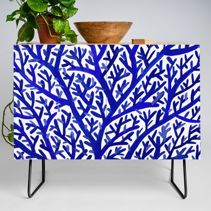 Fan_Coral__Navy_Credenza_by_Cat_Coquillette__Black__Birch