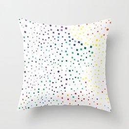 rainbow color geometric Throw Pillow