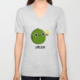 Limelight Cute Lime Pun Unisex V-Neck