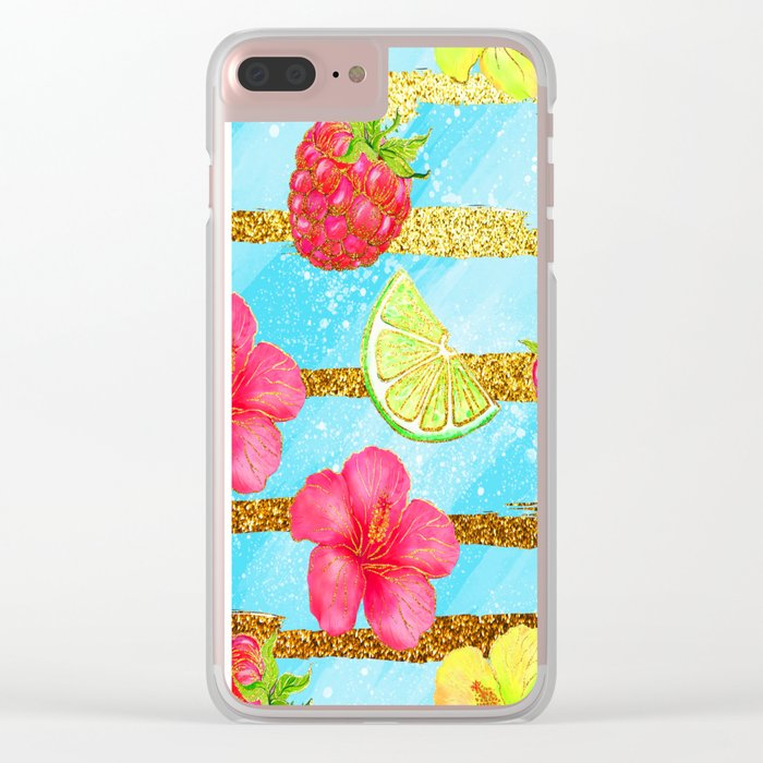 Summer Glitter #3 Clear iPhone Case