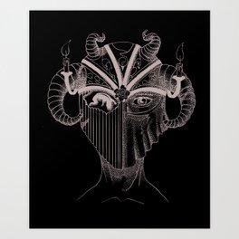 Masque du Feu (Fire Mask) Art Print