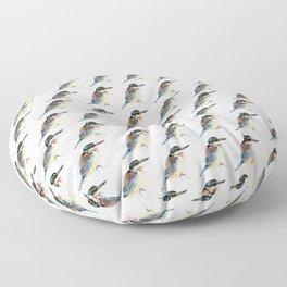 Mr Kōtare, New Zealand native kingfisher bird Floor Pillow