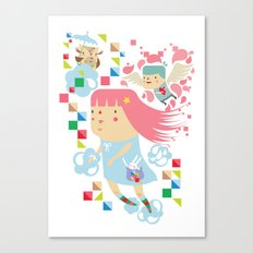 Polypop FlyGirl Canvas Print