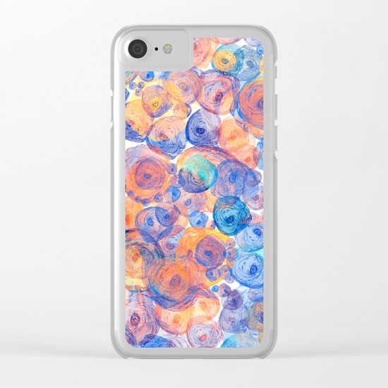 Floral abstract(44) Clear iPhone Case