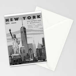 NYC Poster Print [Black and White] Stationery Cards