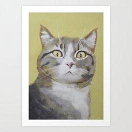 Cat Portrait #1 - Hattie Art Print