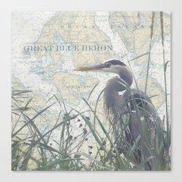 Shaw/Orcas Island Heron Canvas Print