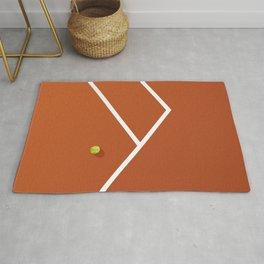 Tennis Court: France Rug