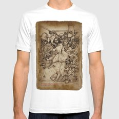 JC: Cleanses the Temple MEDIUM Mens Fitted Tee White