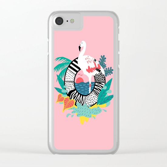 Flaming-oOO Clear iPhone Case