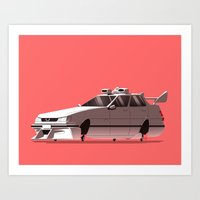 "ninja Art Prints featuring ""NINJA!"" by Ido Yehimovitz"