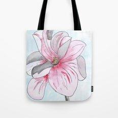Magnolia Flower watercolor Tote Bag