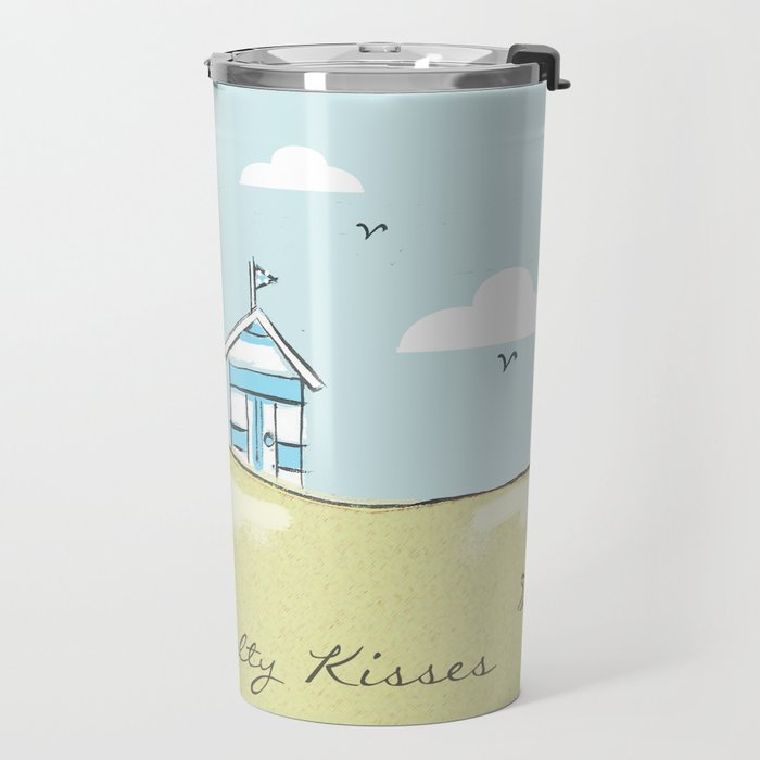 Pastel Beach Huts Travel Mug