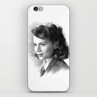 peggy carter iPhone & iPod Skins featuring Peggy by akasatana0807