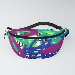 Jewel Tone Wiggle Abstract Fanny Pack