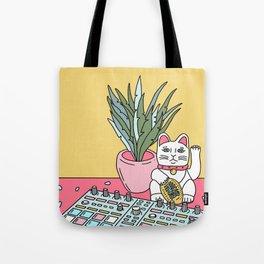 Sad cat pad Tote Bag