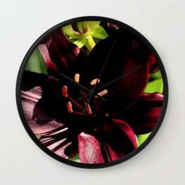 Scarlett Red Wall Clock
