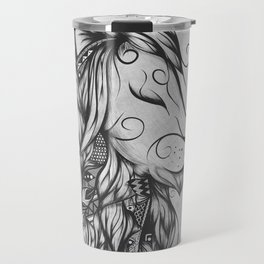 Poetic Lion B&W Travel Mug