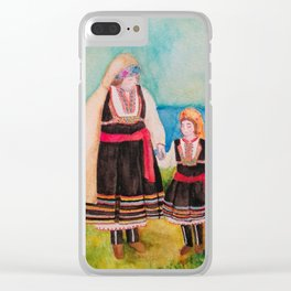 Women Folklore Clear iPhone Case
