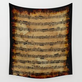 Grunge Sheet Music Music-lover's Design Wall Tapestry