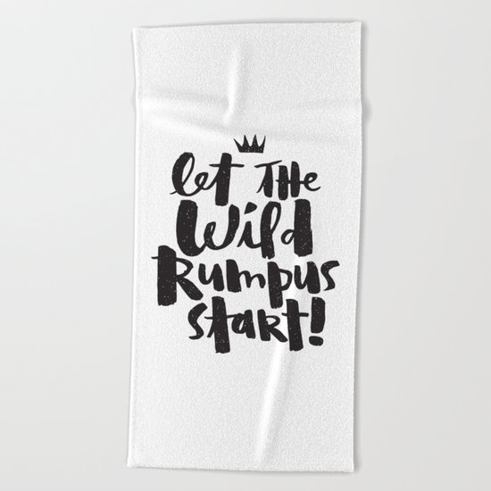 WILD RUMPUS Beach Towel