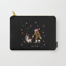 Bigfoot Pug Lover Christmas Carry-All Pouch