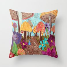 Alice in the Forest Throw Pillow