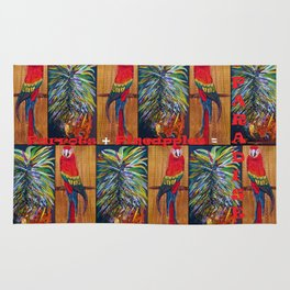 Parrots and Pineapples Rug