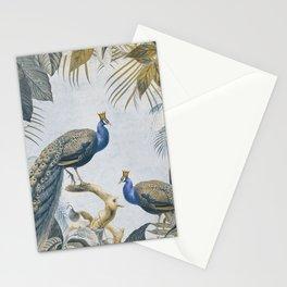 Peacocks Paradise Imaginative Botanical Illustration Stationery Cards