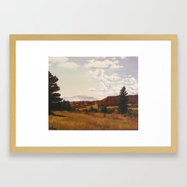 A FALL PAINTING Framed Art Print