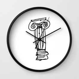 Ionic Column Wall Clock