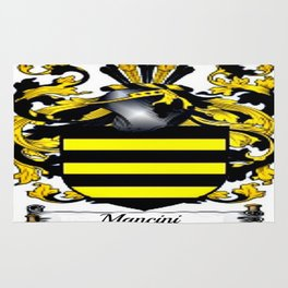 Family Crest - Mancini - Coat of Arms Rug