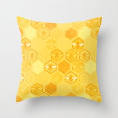 Dance of Bees Throw Pillow