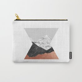 Copper Geometric IV Carry-All Pouch