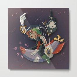 Space Pirate Metal Print