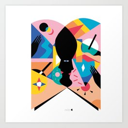 cara libro Art Print