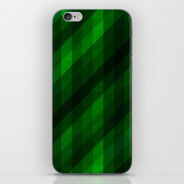 Weaving Green Diamonds Pattern iPhone Skin