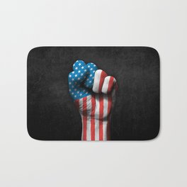 Flag of The United States on a Raised Clenched Fist Bath Mat