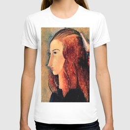 """Amedeo Modigliani """"Portrait of a young woman (Profile of Jeanne Hebuterne)"""" T-shirt"""