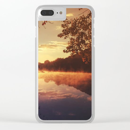 Early morningsun- Forest Sun Lake Trees Clear iPhone Case