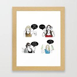 New York Women Framed Art Print