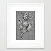 raven Framed Art Prints featuring Raven by Zan Von Zed